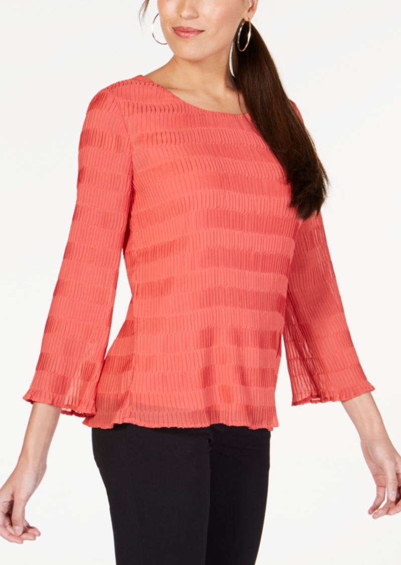 Alfani Textured Pleated Top, Created for Macy's