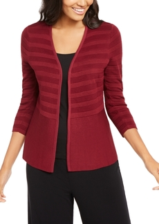 Alfani Textured-Stripe Open-Front Cardigan, Created for Macy's