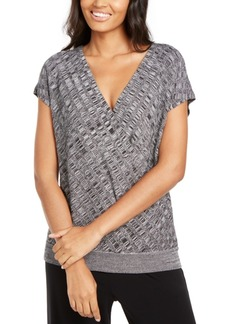 Alfani Textured Surplice-Front Sweater, Created for Macy's