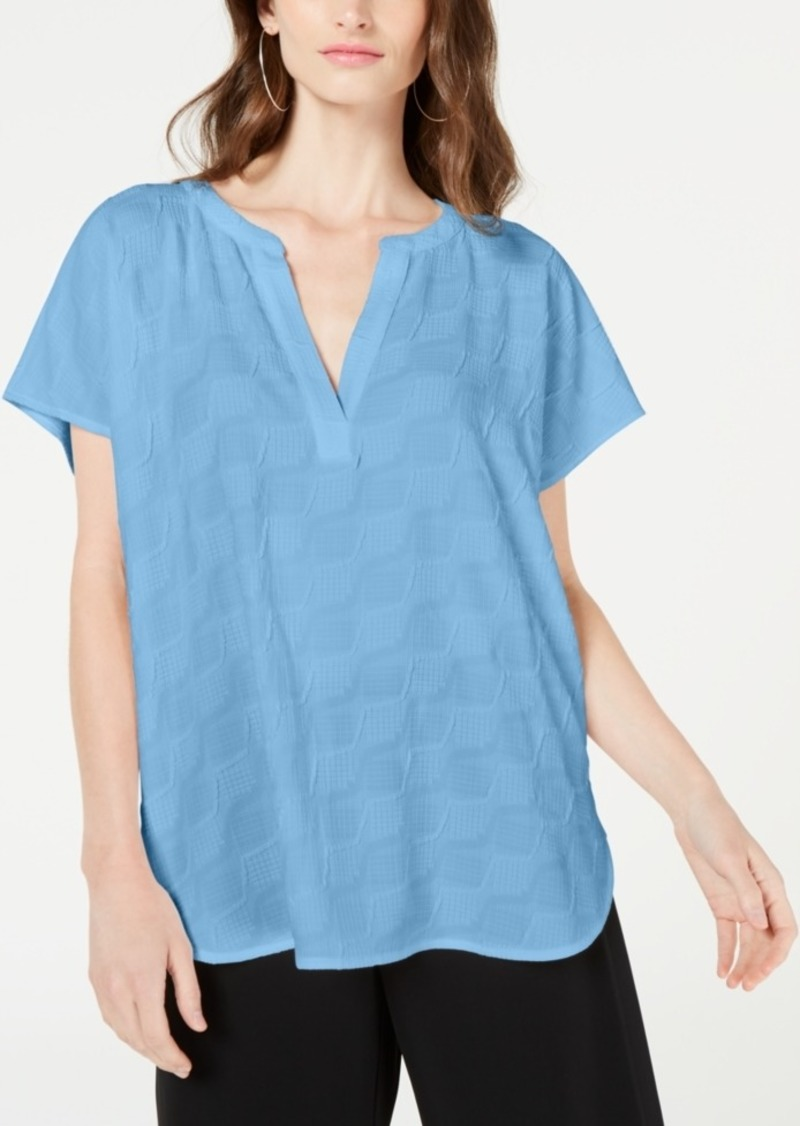 Alfani Textured V-Neck Top, Created for Macy's