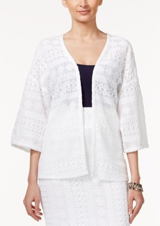 Alfani Three-Quarter-Sleeve Lace Jacket, Only at Macy's