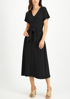 Alfani Tie-Front Dress, Created for Macy's