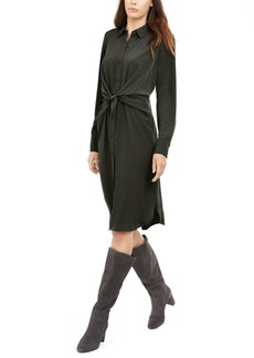Alfani Tie-Front Shirtdress, Created for Macy's