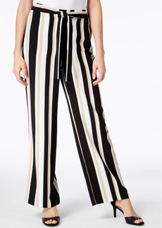 Alfani Petite Striped Pull-On Palazzo Pants, Created for Macy's