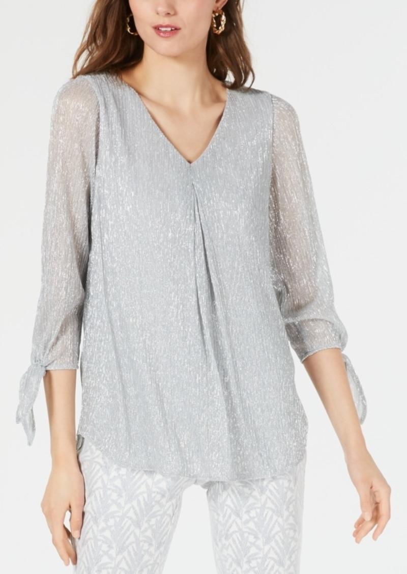 Alfani Tie-Sleeve Top, Created for Macy's
