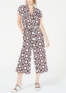 Alfani Tie-Waist Cropped Jumpsuit, Created for Macy's