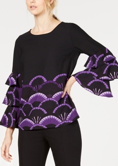 Alfani Tiered-Sleeve Top, Created for Macy's