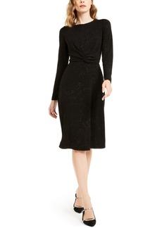 Alfani Tonal Twist-Waist Dress, Created For Macy's
