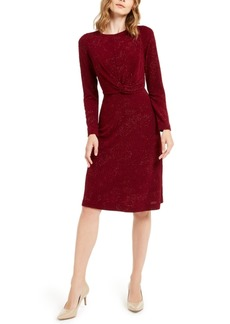 Alfani Tonal Twist-Waist Dress, Created For Macy's