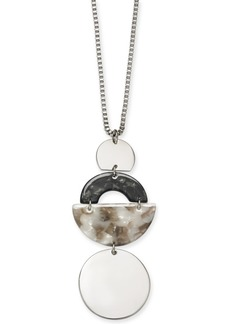 "Alfani Tortoise-Look Geometric 36"" Pendant Necklace, Created For Macy's"