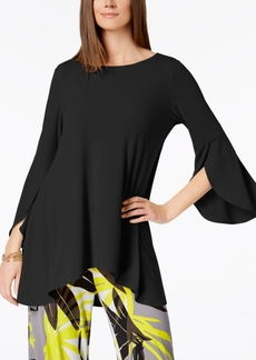 Alfani Petite High-Low Tulip-Sleeve Top, Created for Macy's