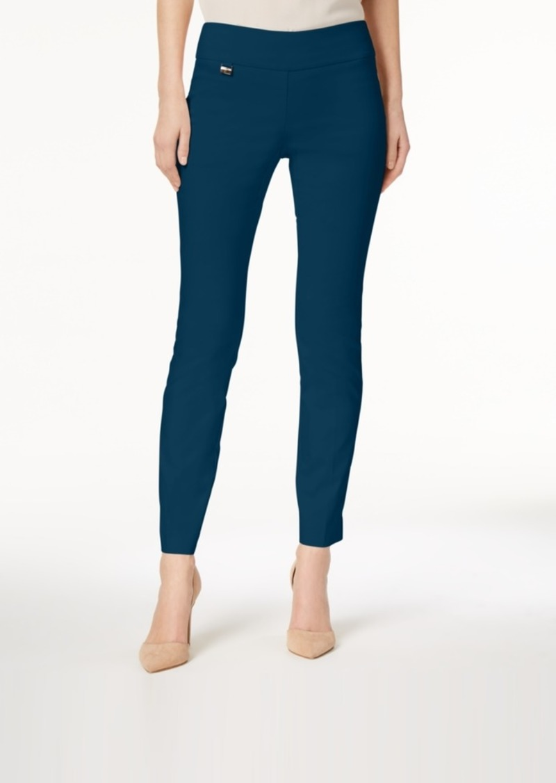 Alfani Tummy-Control Pull-On Skinny Pants, Created for Macy's