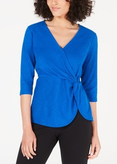 Alfani Twisted Surplice Top, Created for Macy's