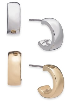 Alfani Two-Tone 2-Pc. Set Small Hoop Earrings, Created for Macy's