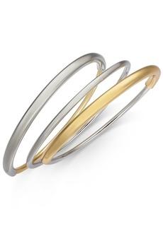 Alfani Two-Tone 3-Pc. Set Bangle Bracelets, Created for Macy's