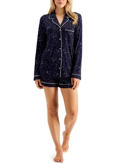 Alfani Ultra-Soft Shirt & Shorts Pajama Set, Created for Macy's