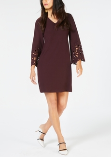Alfani Petite Laser-Cut A-Line Dress, Created for Macy's