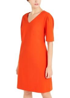 Alfani V-Neck Puff-Sleeve A-Line Dress, Created For Macy's