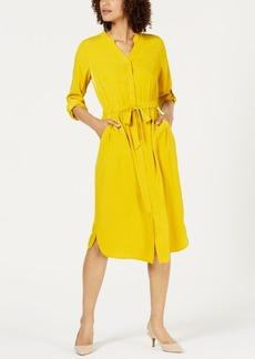 Alfani V-Neck Roll-Tab Shirt Dress, Created for Macy's