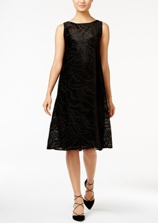 Alfani Velvet Burnout A-Line Dress, Only at Macy's