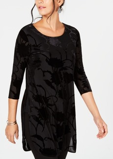 Alfani Velvet Burnout Tunic, Created for Macy's