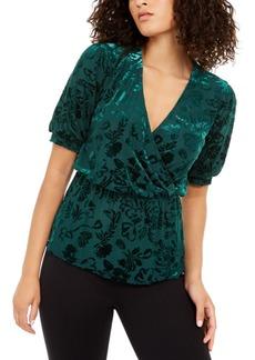 Alfani Velvet Burnout Wrap Top, Created For Macy's
