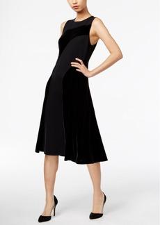 Alfani Velvet Fit & Flare Dress, Only at Macy's