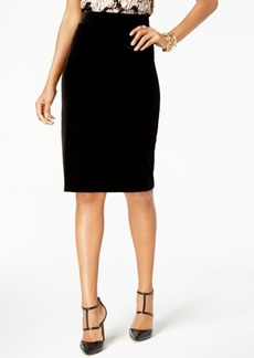 Alfani Velvet Pencil Skirt, Created for Macy's