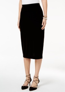 Alfani Velvet Pencil Skirt, Only at Macy's