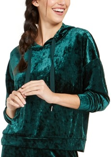 Alfani Velvet Sleep Hoodie, Created For Macy's