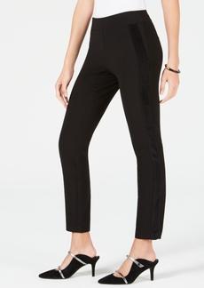 Alfani Velvet-Stripe Skinny Pants, Created for Macy's