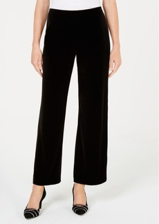Alfani Petite Velvet Wide-Leg Pants, Created for Macy's