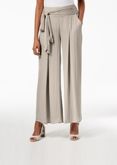 Alfani Wide-Leg Tie-Waist Washed Satin Pants, Created for Macy's
