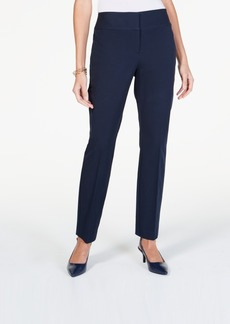 Alfani Wide-Waistband Curvy Slim-Leg Pants, Created for Macy's