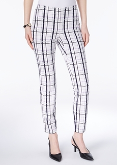 Alfani Windowpane Bi-Stretch Skinny Pants, Created for Macy's