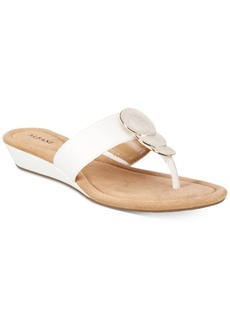 Alfani Women's Fleurr Wedge Sandals, Only At Macy's Women's Shoes