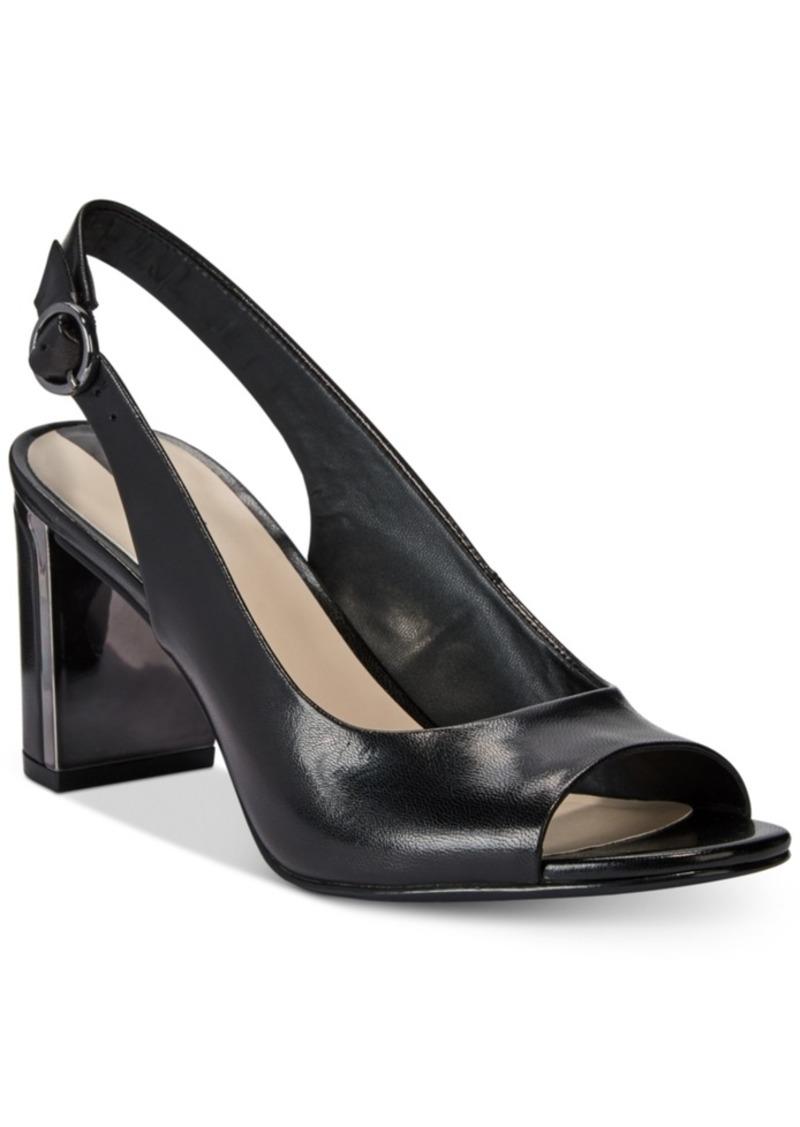 a296453bc SALE! Alfani Alfani Women s Florraa Slingback Peep-Toe Dress Sandals ...