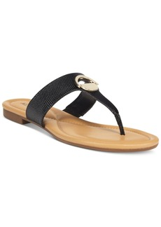 Alfani Women's Holliss Flat Thong Sandals, Only at Macy's Women's Shoes