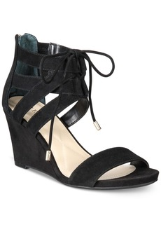 Alfani Women's Karlii Lace-Up Wedge Sandals, Only at Macy's Women's Shoes