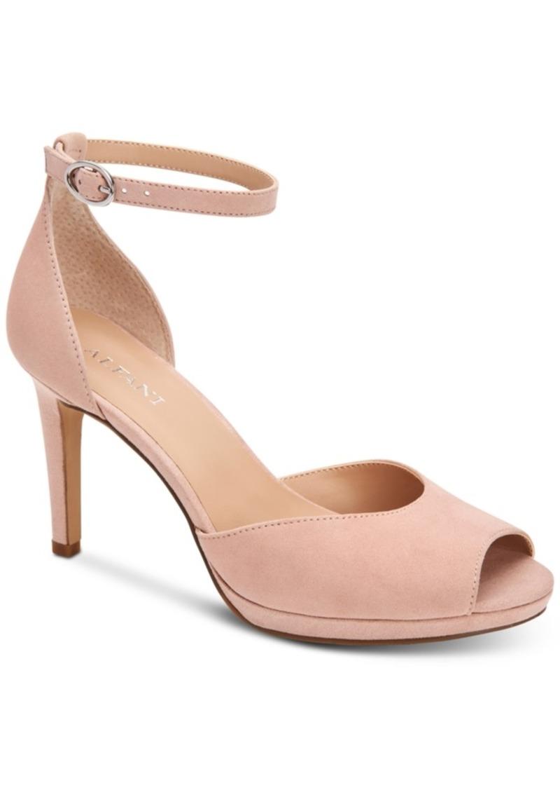 Alfani Women's Peonyy Platform Ankle-Strap Heel, Created for Macy's Women's Shoes