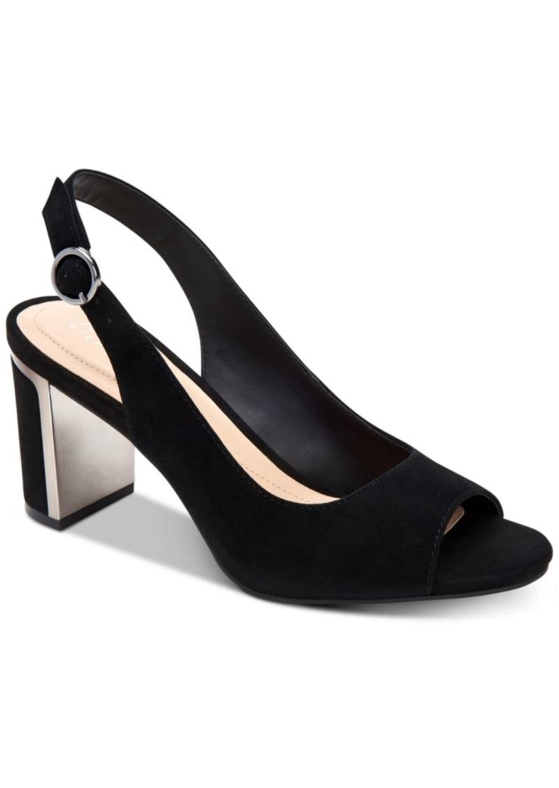 Alfani Women's Step 'N Flex Florraa Slingback Peep-Toe Dress Sandals, Created for Macy's Women's Shoes