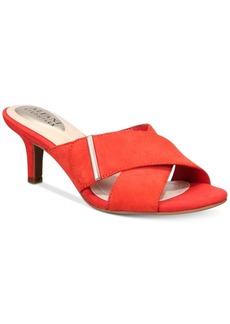 Alfani Women's Step 'N Flex Larrk Kitten-Heel Slip-On Sandals, Only at Macy's Women's Shoes