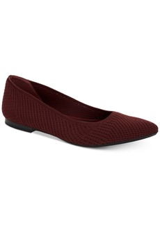 Alfani Women's Step 'N Flex Poppyy Pointed Toe Knit Flats, Created for Macy's Women's Shoes