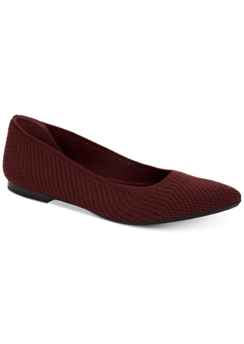 Alfani Women's Step 'N Flex Poppyy Pointed Toe Knit Flats, Created for Macy's Women's Shoes