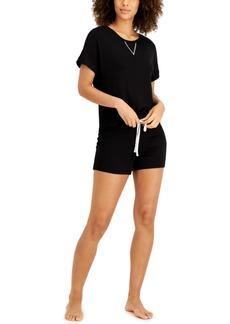 Alfani Women's Ultra-Soft Pajama Short Set, Created for Macy's