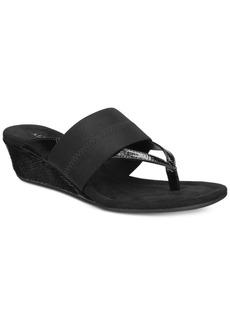 Alfani Women's Viiva Slip-On Wedge Sandals, Only at Macy's Women's Shoes