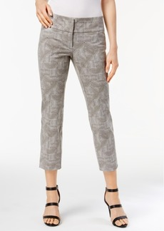 Alfani Woodgrain-Print Cropped Pants, Created for Macy's