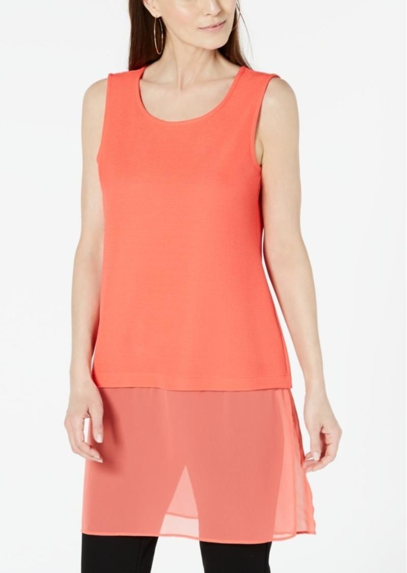 Alfani Woven-Hem Tunic, Created for Macy's