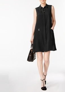 Alfani Zip-Pocket A-Line Shirtdress, Created for Macy's