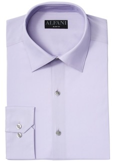 AlfaTech by Alfani Men's Big & Tall Slim Fit Performance Stretch Easy-Care Solid Dress Shirt, Created for Macy's